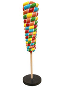 Twister Reverse Cone Lollipop Candy Big Statue Rainbow - LM Prop Rentals