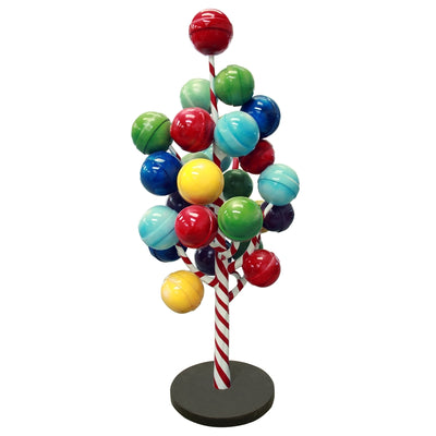 Rainbow Gum Ball Lollipop Candy Tree Over Sized Statue