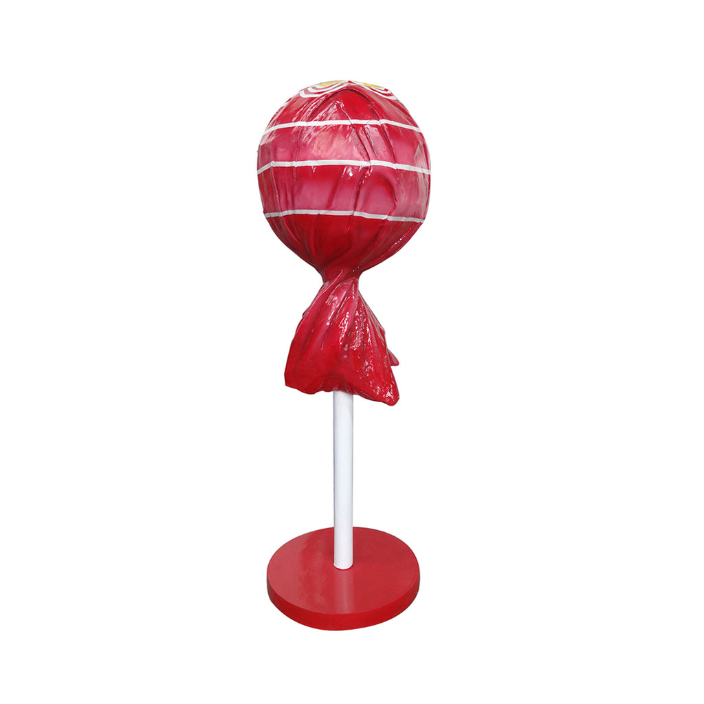 Red Lollipop Over Sized Statue