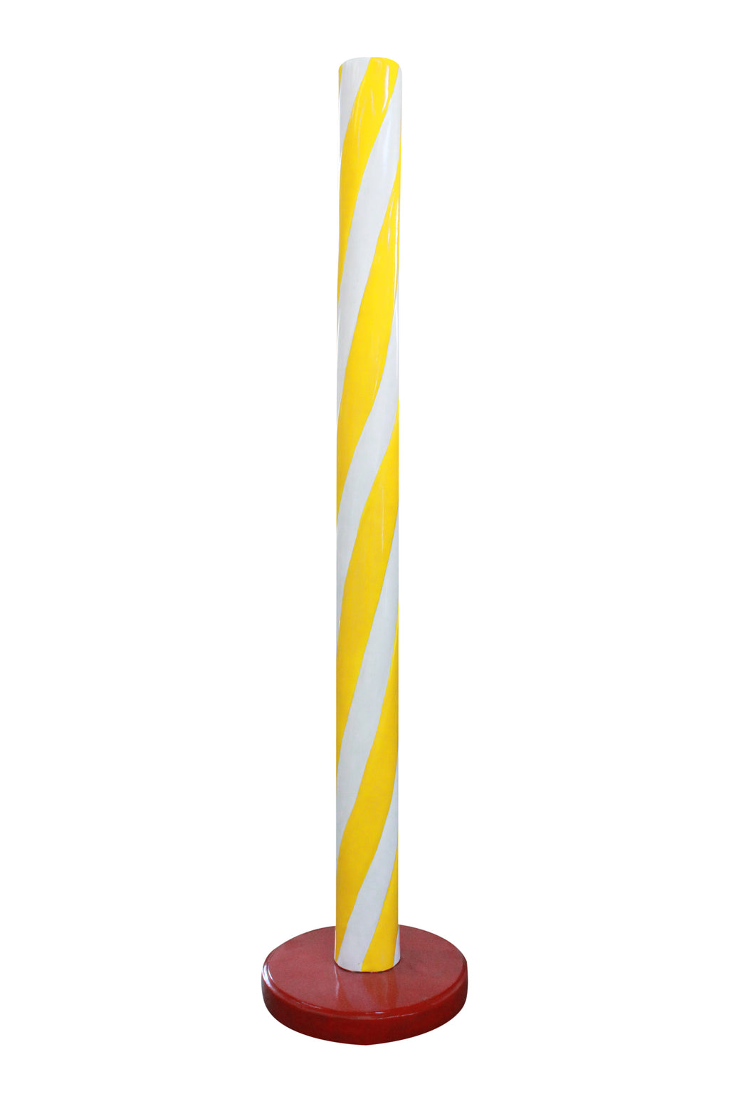 Candy Stick Yellow Jumbo Over Sized Prop Decor Statue - LM Treasures Prop Rentals