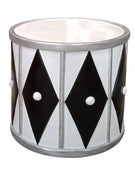 White And Silver Drum Life Size Statue