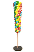 Twister Reverse Cone Lollipop Candy Mini Rainbow Statue - LM Prop Rentals