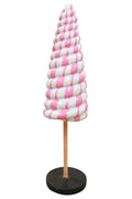 Twister Cone Lollipop Candy Mini Pink Statue - LM Prop Rentals
