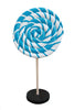Candy Round Lollipop Twirl Mini Blue Statue - LM Treasures Prop Rentals