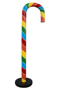 Candy Cane 220cm Rainbow  Over sized Display Resin Prop Decor Statue - LM Prop Rentals