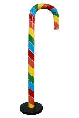 Candy Cane 220cm Rainbow  Over sized Display Resin Prop Decor Statue - LM Treasures Prop Rentals