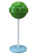 Candy Mini Lollipop Sugar Pop Green Over sized Display Resin Prop Decor Statue - LM Treasures Prop Rentals