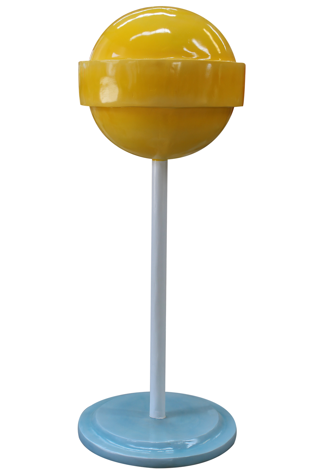 Candy Mini Lollipop Sugar Pop Yellow Over sized Display Resin Prop Decor Statue - LM Treasures Prop Rentals