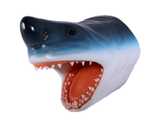 Great White Shark Head Life Size Statue Prop