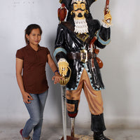 Pirate Captain Morgan With Gun Life Size Statue