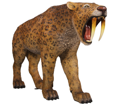 Smilodon Saber Tooth Life Size Statue