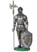 Medieval Knight Mythical 2 Life Size Statue