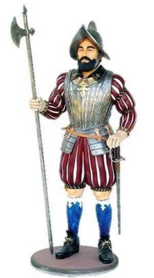 Spanish Medieval Knight Mythical Life Size Statue