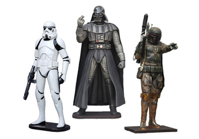 Space Warriors Set of 3 Package 2 Life Size Statue