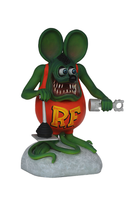 Mechanic Green Rat Over Sizes Statue