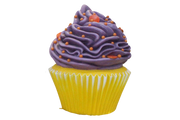 Purple Frosting Vanilla Cupcake Over Sized Statue