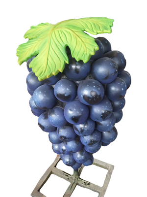 Bunch of Purple Grapes Over Size Statue