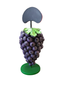 Bunch of Purple Grapes Over Size Statue Menu Board