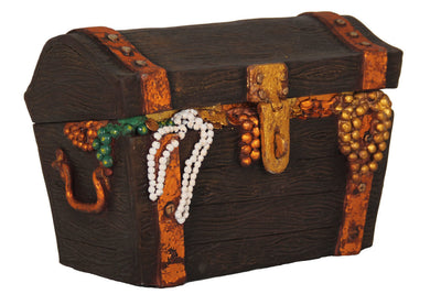 Treasure Chest Small Statue Pirate Prop Resin Decor - LM Prop Rentals