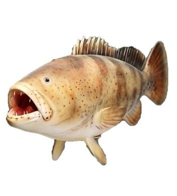 Fish Estuary Cod Hanging Sea Prop Resin Decor Statue - LM Prop Rentals
