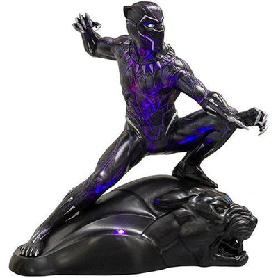 Super Hero Black Panther Life Size Statue Light Up Rubie's Licensed Foam Prop Classics Figurine Statue - LM Treasures Prop Rentals