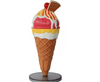 Ice Cream Cone Two Scoop Waffle Table Top Restaurant Prop Decor Resin Statue - LM Prop Rentals
