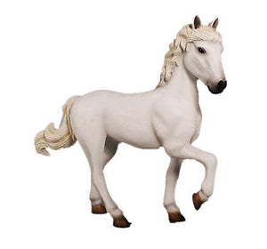 Horse Pony Standing  White Majestic Statue Display Prop Farm Animal - LM Treasures Prop Rentals