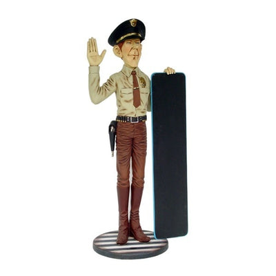 Police Officer In Uniform Cop Statue - LM Treasures Prop Rentals