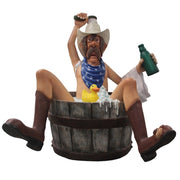 Bathing Cowboy with Rubber Duck Statue - LM Treasures Prop Rentals