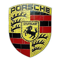 Mosaic Sign Porsche Emblem Look Alike Wall Decor Resin Statue - LM Prop Rentals