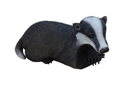 Rodent Badger Laying Life Size Prop Decor Resin Statue