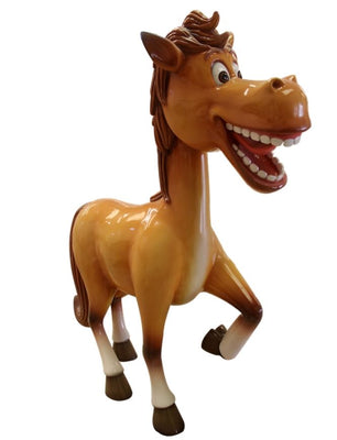 Comic Horse Pony Display Prop Decor Resin Statue - LM Treasures Prop Rentals