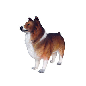 Dog Shetland Sheepdog Animal Prop Life Size D̩ecor Resin Statue