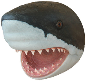 Shark Great White Head # 1 Wall Decor Sea Prop Resin Statue - LM Treasures Prop Rentals