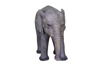 Elephant Baby Standing Table Top Jungle Animal Resin Statue - LM Treasures Prop Rentals