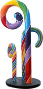 Candy Cane Rainbow Trio Prop Display Resin Statue - LM Treasures Prop Rentals