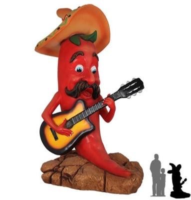 Singing Chili Statue - LM Treasures Prop Rentals