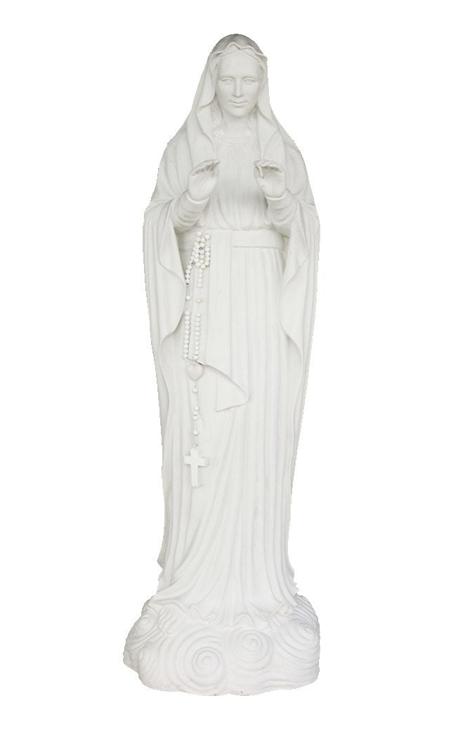 Our Fair Lady Monte Maria Virgin Mary Statue - LM Treasures Prop Rentals