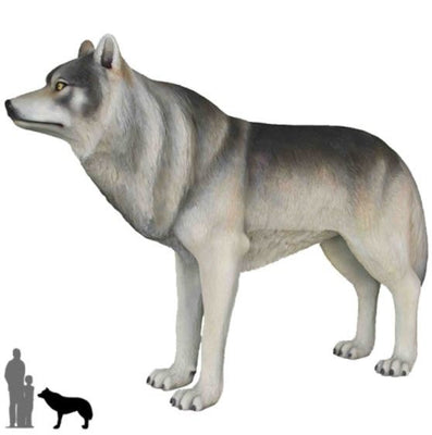 Dog Wild Wolf Animal Prop Life Size Decor Resin Statue
