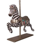 Carousel Zebra Majestic Resin Statue Display Prop - LM Treasures Prop Rentals