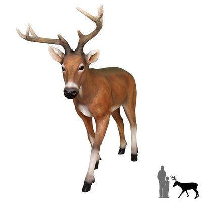 Deer Buck Young Animal Prop Life Size Decor Resin Statue - LM Prop Rentals