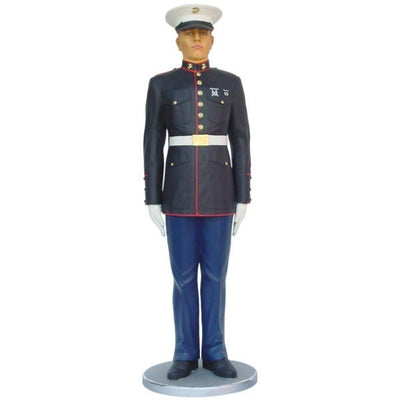 Marine Dressed at Attention Life Size Statue - LM Prop Rentals