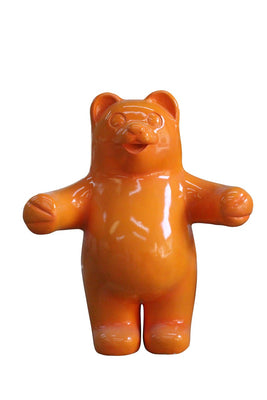 Candy Gummy Bear Orange Over Sized Prop Resin Statue - LM Treasures Prop Rentals