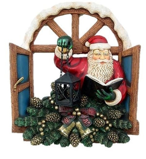 Santa Claus Christmas Window Prop Decor Resin Statue - LM Treasures Prop Rentals