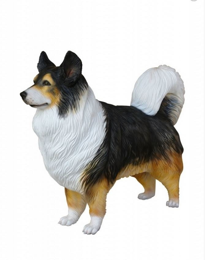 Dog Shephered Australian Animal Prop Life Size D̩ecor Resin Statue - LM Treasures Prop Rentals