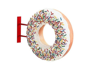 Donut White Hanging Restaurant Prop Resin Decor Statue