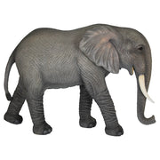 Standing Elephant Life Size Statue