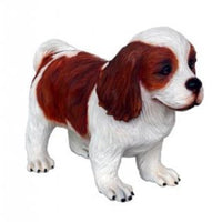 Dog Cavalier Spaniel Puppy Brown Animal Prop Life Size D̩ecor Resin Statue - LM Prop Rentals