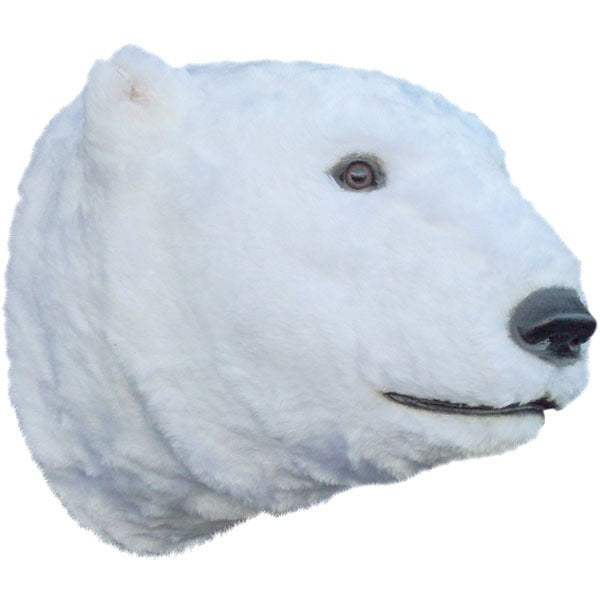 Bear Polar Head Animal Prop Life Size Decor Resin Statue - LM Treasures Prop Rentals