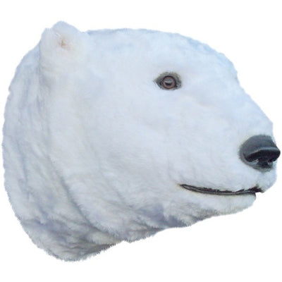 Bear Polar Head Animal Prop Life Size Decor Resin Statue - LM Prop Rentals